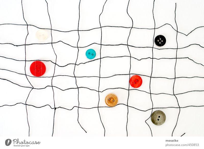 Handarbeit Knöpfe und Fäden - Grafikdesign - Modesymbol Design Freizeit & Hobby Basteln stricken Bekleidung blau rot schwarz weiß Idee Inspiration Nähen