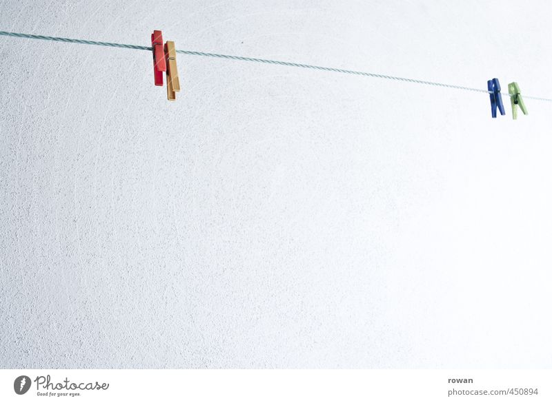 aufhänger Häusliches Leben hängen trocknen Wäscheleine Klammer Wäscheklammern