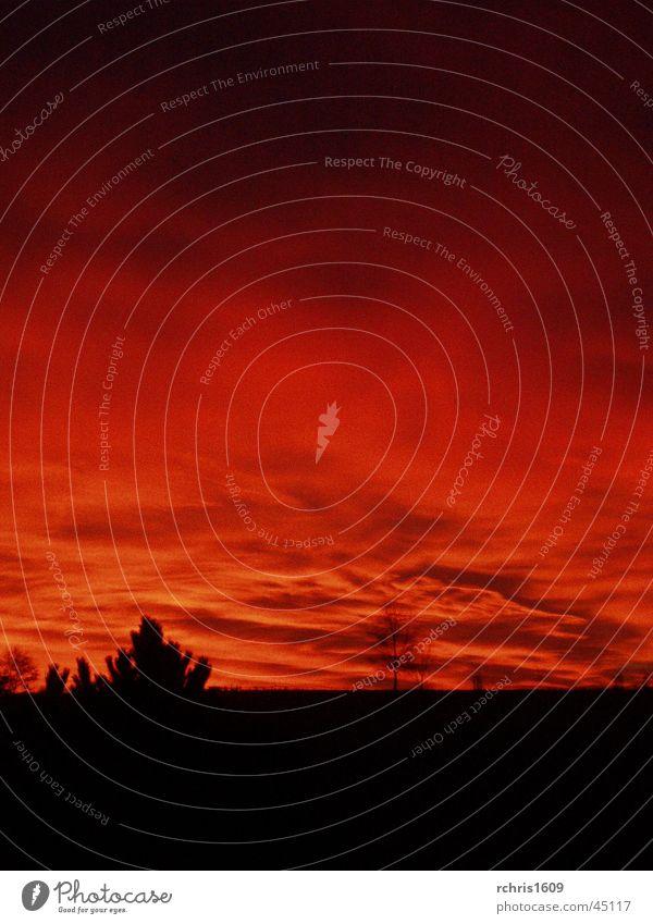 burning heaven Natur Himmel rot Wolken Brand