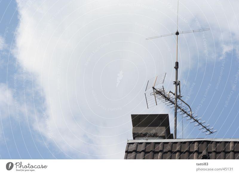 aus meinem fenster, Dach Antenne Wolken Haus Häusliches Leben Himmel frei