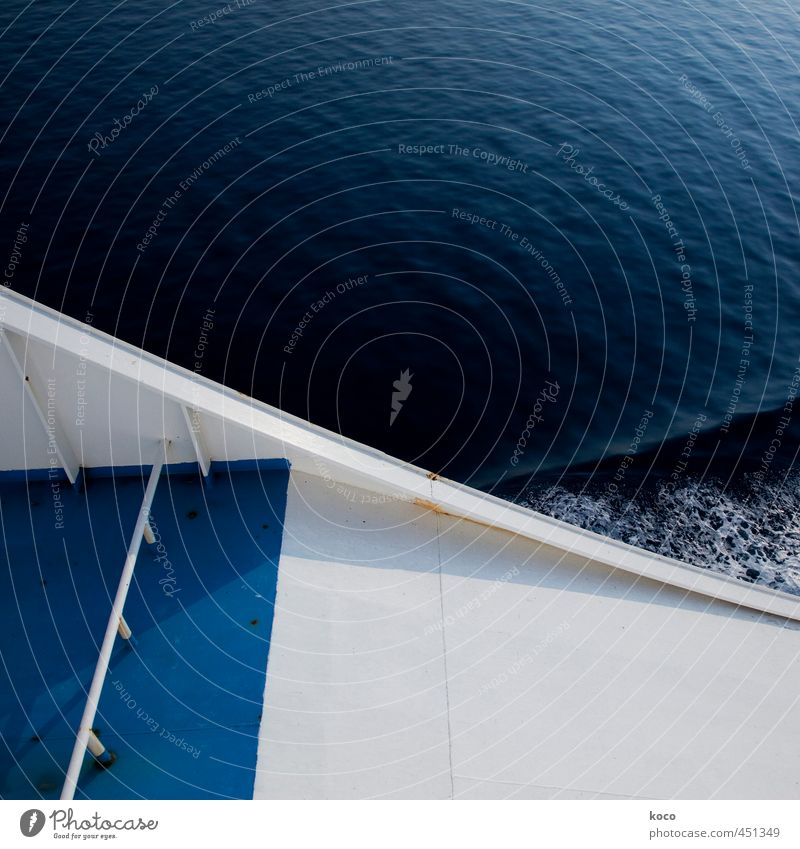 Bugwelle II blau Wasser weiß Sommer Meer schwarz Umwelt kalt Frühling Wege & Pfade Schwimmen & Baden Wasserfahrzeug Linie Metall Kraft Wellen