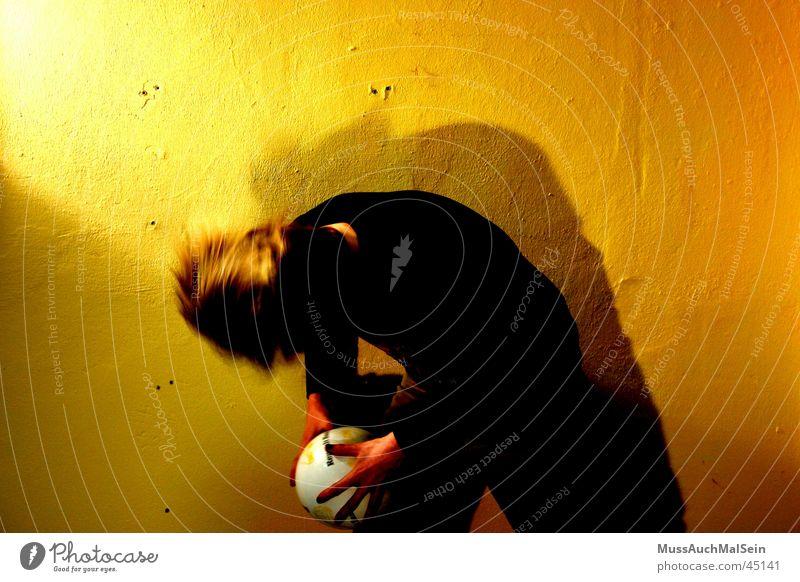 Headbangin' Matze Mann gelb Haare & Frisuren Tanzen Ball lang Rockmusik Kopfschütteln