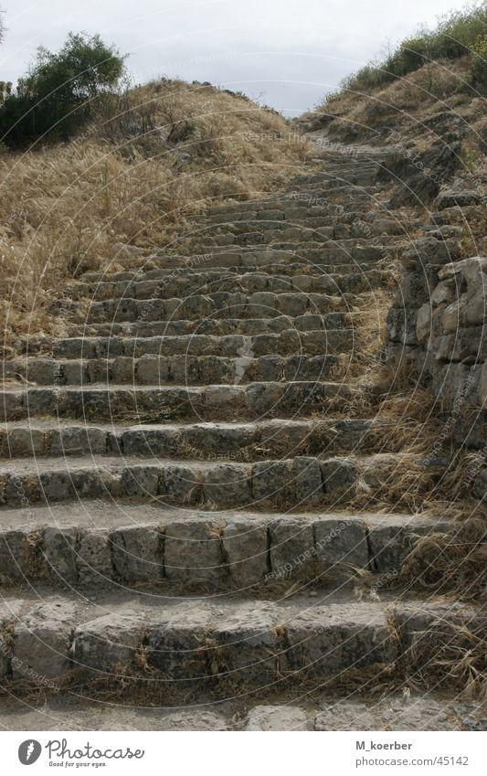 Treppen Akro-Korinth alt Europa