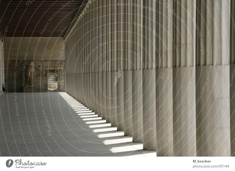 Säulenhalle Architektur Lagerhalle Säule Griechenland
