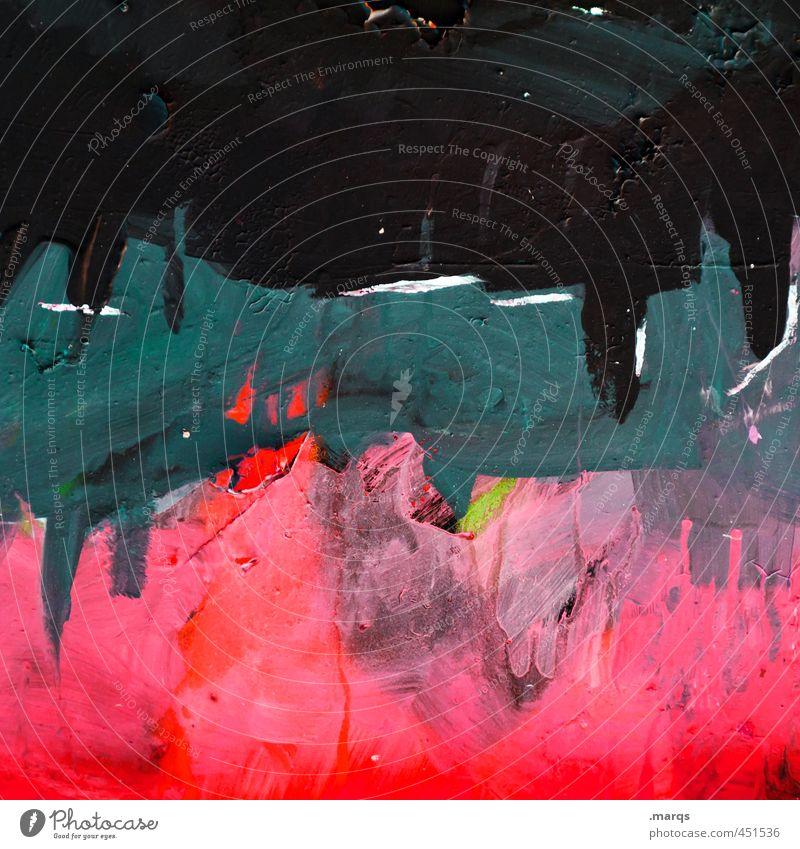 Stack Lifestyle elegant Stil Design Anstreicher Kunst rot schwarz türkis Farbe Hintergrundbild Farbfoto Außenaufnahme Detailaufnahme abstrakt Muster