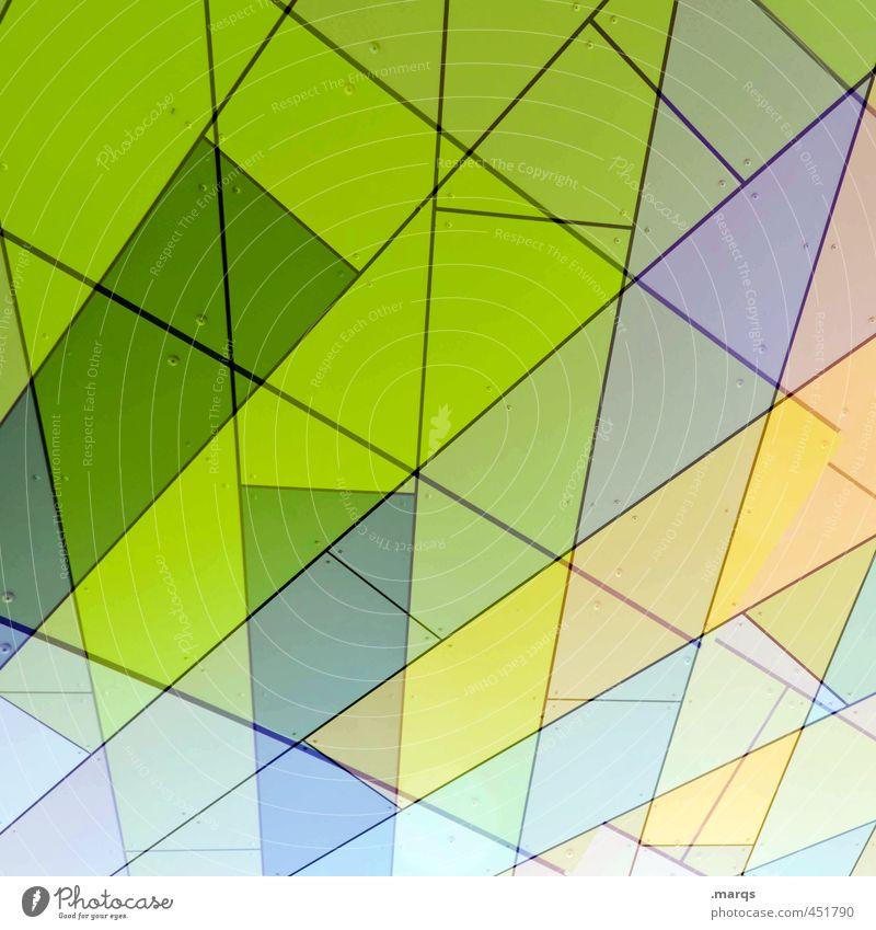 Stacked Lifestyle elegant Stil Design Fassade Streifen außergewöhnlich Coolness trendy modern neu verrückt gelb grün Farbe Ordnung Perspektive Irritation