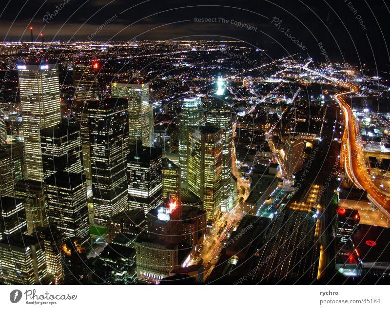 Toronto by night Hochhaus Skyline Toronto Nordamerika CN Tower