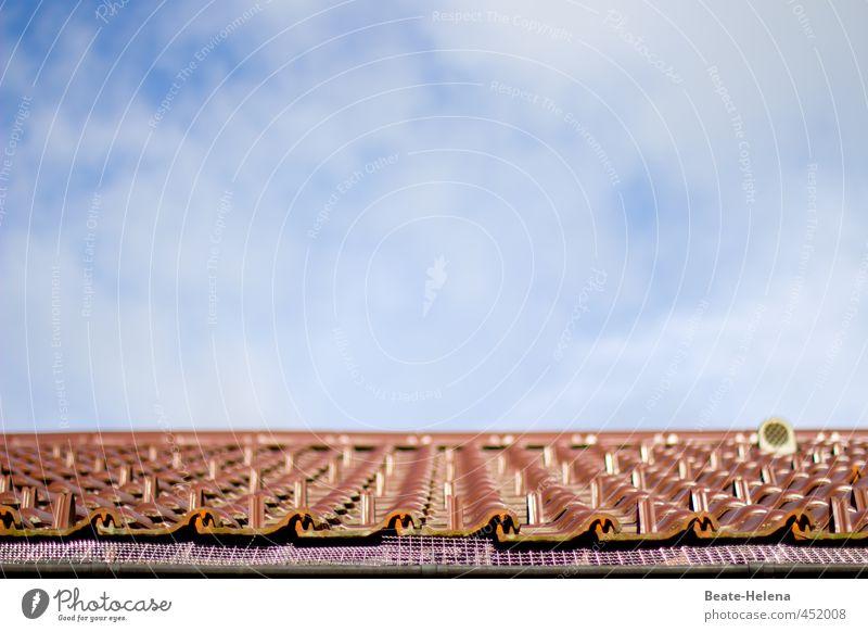 Untermieter / es sind noch Plätze frei! Lifestyle Häusliches Leben Wohnung Haus Himmel Wolken Gebäude Architektur Dach Dachrinne blau braun Reinlichkeit