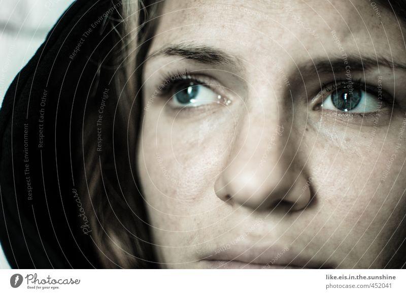 bonjour tristesse Jugendliche schön Einsamkeit Junge Frau Gesicht Erwachsene Auge 18-30 Jahre Leben feminin Traurigkeit Tod Kopf Angst blond Trauer