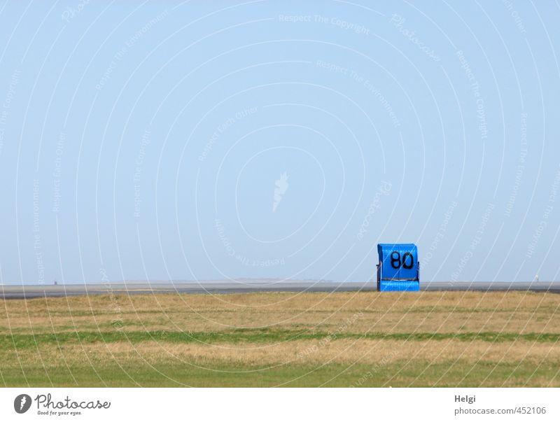 heul doch   Sommerende... Natur Ferien & Urlaub & Reisen blau grün Sommer Meer Einsamkeit ruhig Landschaft Strand Gras Freiheit außergewöhnlich Stimmung braun Freizeit & Hobby