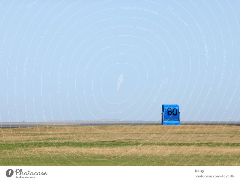 heul doch | Sommerende... Natur Ferien & Urlaub & Reisen blau grün Meer Einsamkeit ruhig Landschaft Strand Gras Freiheit außergewöhnlich Stimmung braun