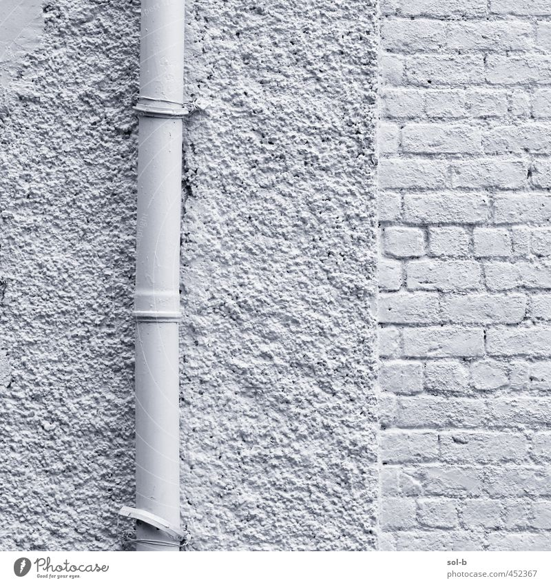 weiß Haus Wand Mauer Architektur Gebäude Häusliches Leben ästhetisch Backstein Röhren bemalt Backsteinwand