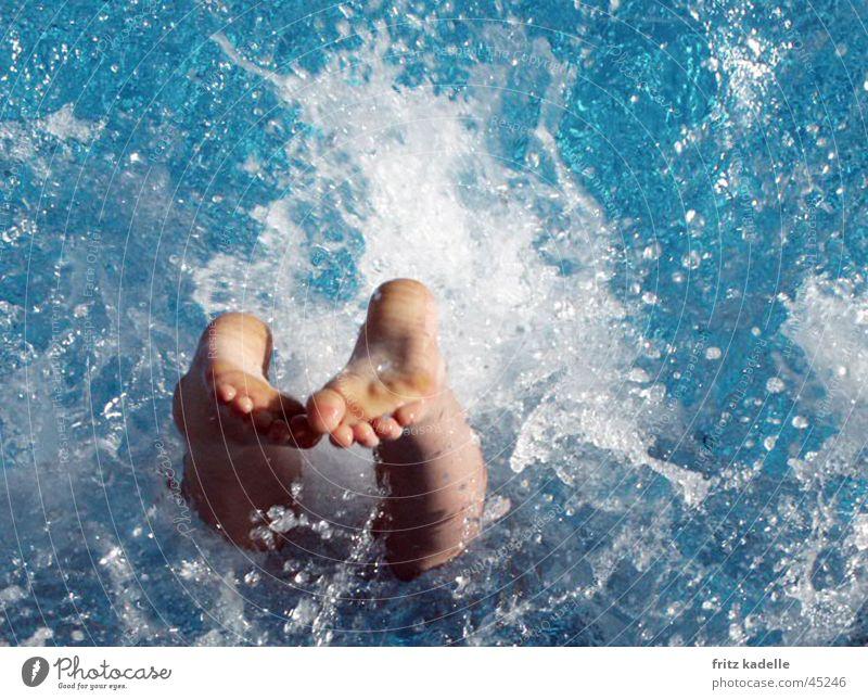 Splash Erfrischung Kopfsrung Wasser Schwimmen & Baden blau