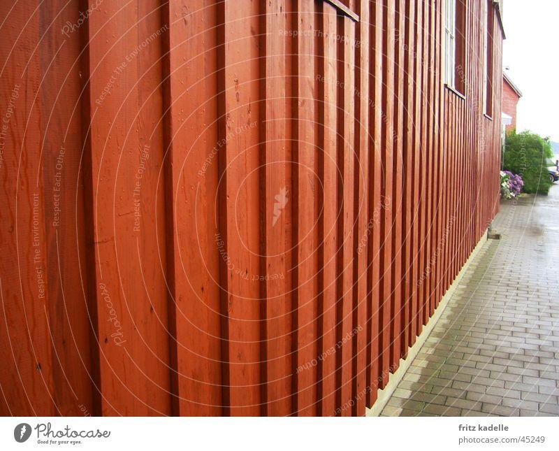 Rotes Haus rot Holz Architektur Schweden