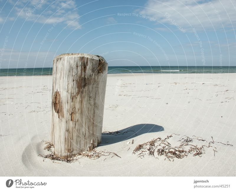 Strand Zingst 2003 Meer Ferien & Urlaub & Reisen Erholung Sand Holzbrett