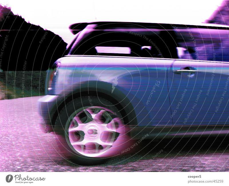 cooper s Verkehr klein Kunst geschmackvoll electric blue Unschärfe