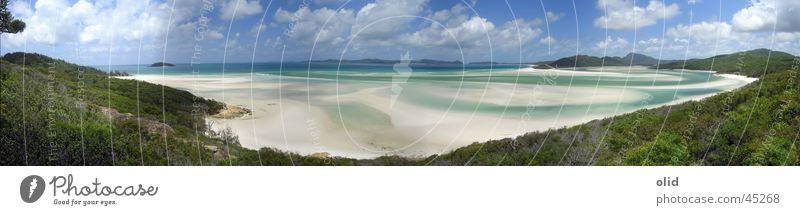 White Heaven Beach Strand Australien Meer Panorama (Aussicht) groß Panorama (Bildformat)