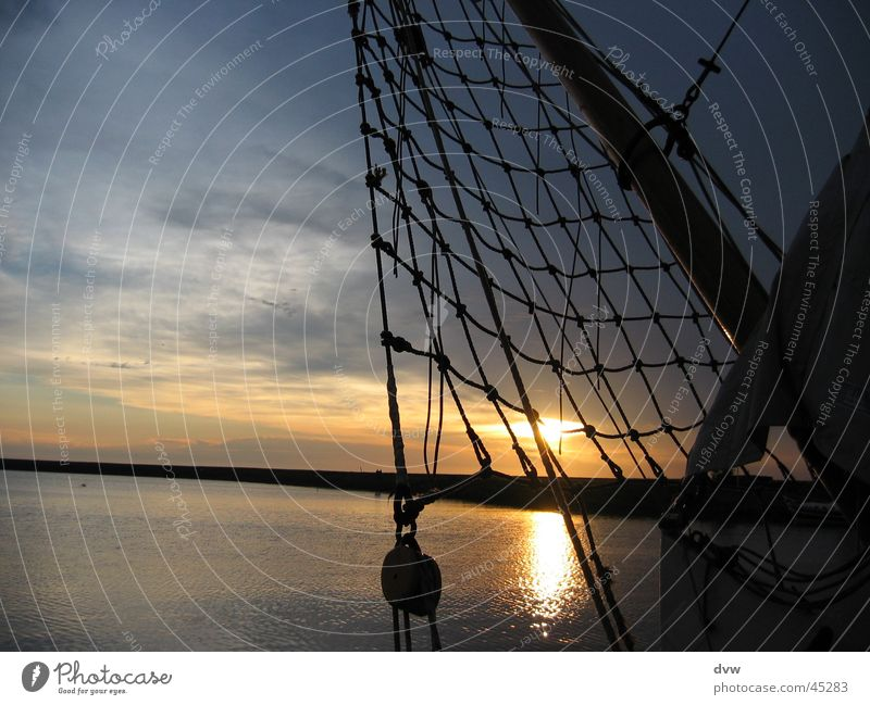 Sailman's sunset Wasser Sonne Meer Wolken Wasserfahrzeug Segeln Niederlande