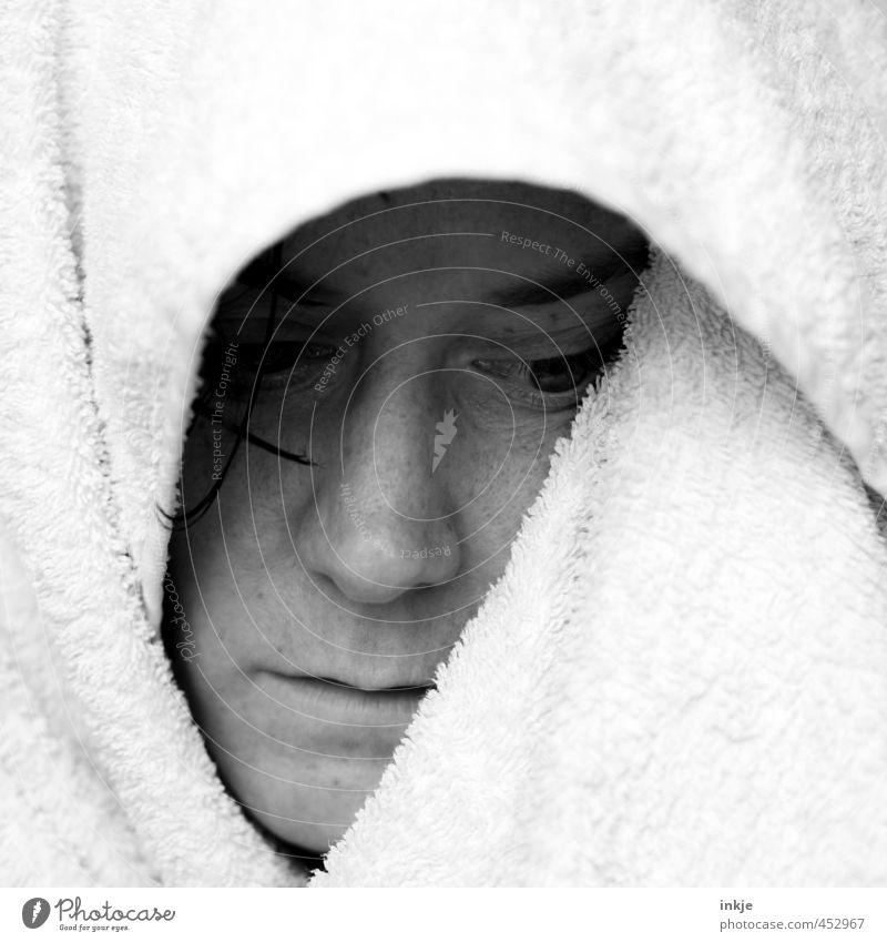 heul doch ! Mensch Frau schön Erholung ruhig Gesicht Erwachsene Leben Gefühle Traurigkeit Haare & Frisuren Schwimmen & Baden Gesundheit träumen Körper nass