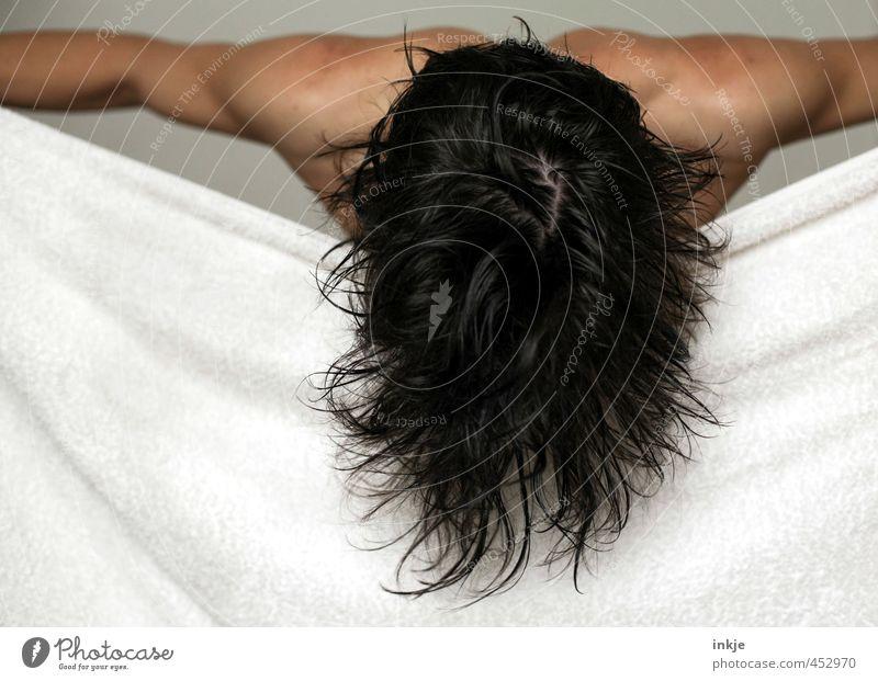 Kopfwäsche Mensch Frau Erwachsene Leben Sport Haare & Frisuren Körper Kraft nass Fitness Körperpflege Sport-Training Muskulatur Sportler schwarzhaarig Handtuch