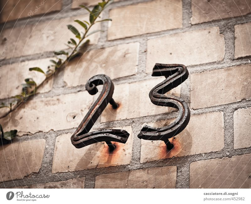 twenty three alt Stadt Einsamkeit schwarz dunkel kalt Wand Senior Mauer grau Religion & Glaube Zeit orange Häusliches Leben trist Wandel & Veränderung