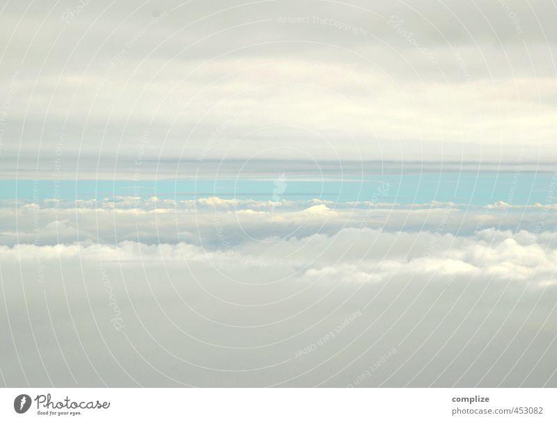 himmlisch Ferien & Urlaub & Reisen Ferne Umwelt Luft Himmel nur Himmel Wolken Sommer Luftverkehr Flugzeug Passagierflugzeug Fluggerät Flughafen Abflughalle