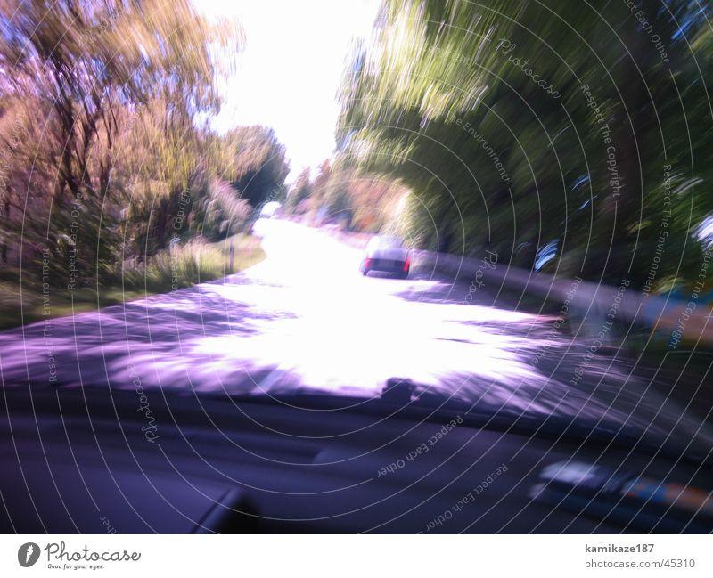 schnelligkeit Farbe Verkehr Geschwindigkeit unterwegs Verzerrung Landstraße