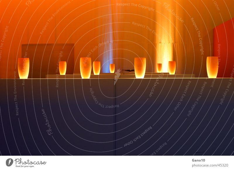 lightstorm Lampe Beleuchtung orange Häusliches Leben Vase Lichtstimmung