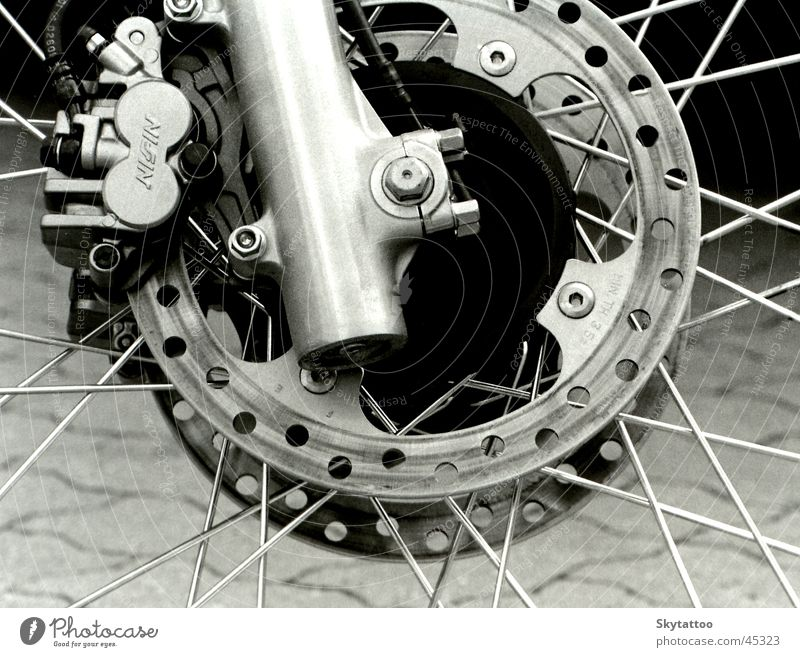 Detail weiß schwarz Freizeit & Hobby Rad Motorrad Fahrzeug Chrom