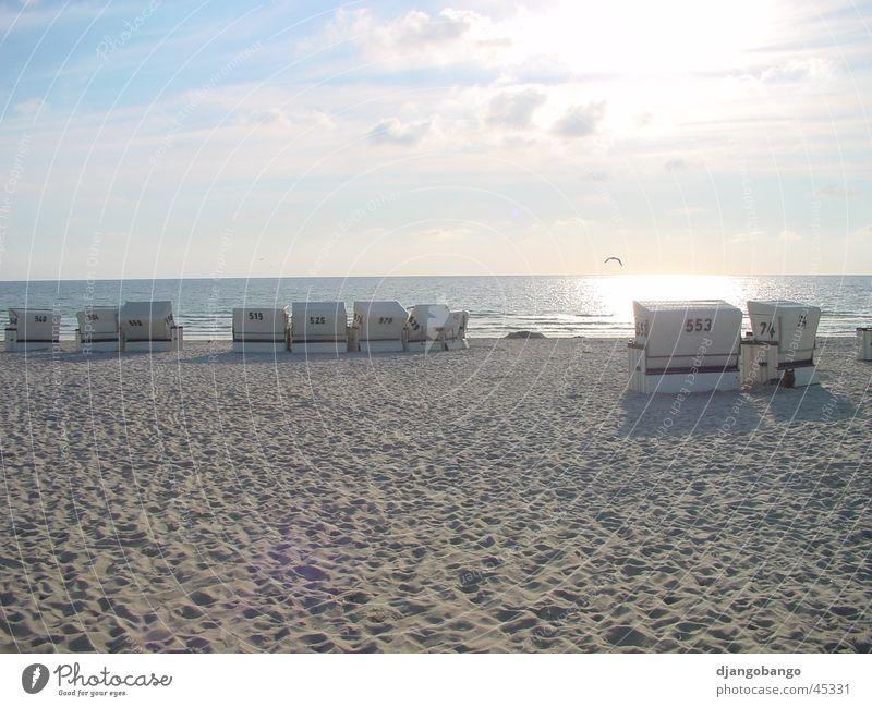 Sylter Strand Sonne Meer Strand Vogel Strandkorb Sylt