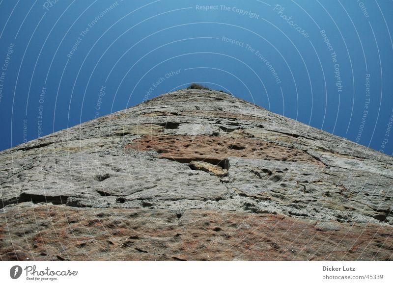 Steiniger Weg Himmel blau Stein braun Horizont Perspektive Dinge