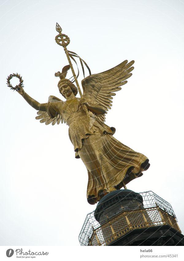 Siegessäule Bronzeskulptur Nike Architektur Berlin Engel