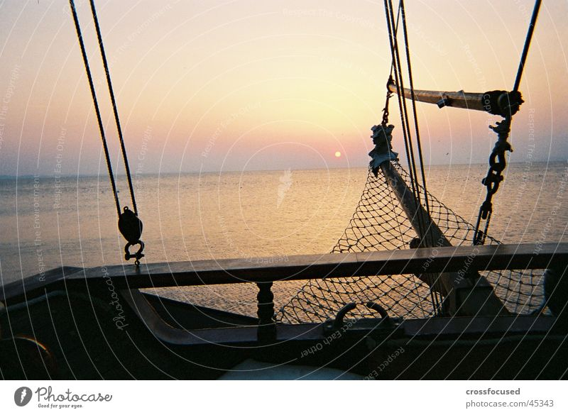 sunset Sonnenuntergang Meer Wasserfahrzeug Romantik Abend Ferien & Urlaub & Reisen