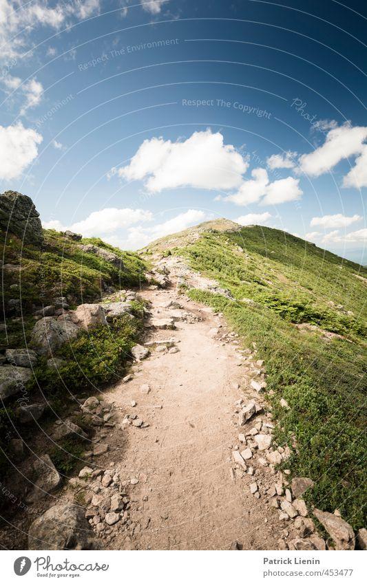 High Way Natur Ferien & Urlaub & Reisen blau grün Pflanze Sommer Erholung Landschaft Ferne Umwelt Berge u. Gebirge Wege & Pfade Freiheit Felsen Wetter Freizeit & Hobby