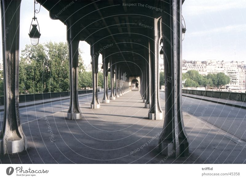 Paris Straße Eisenbahn Brücke Frankreich