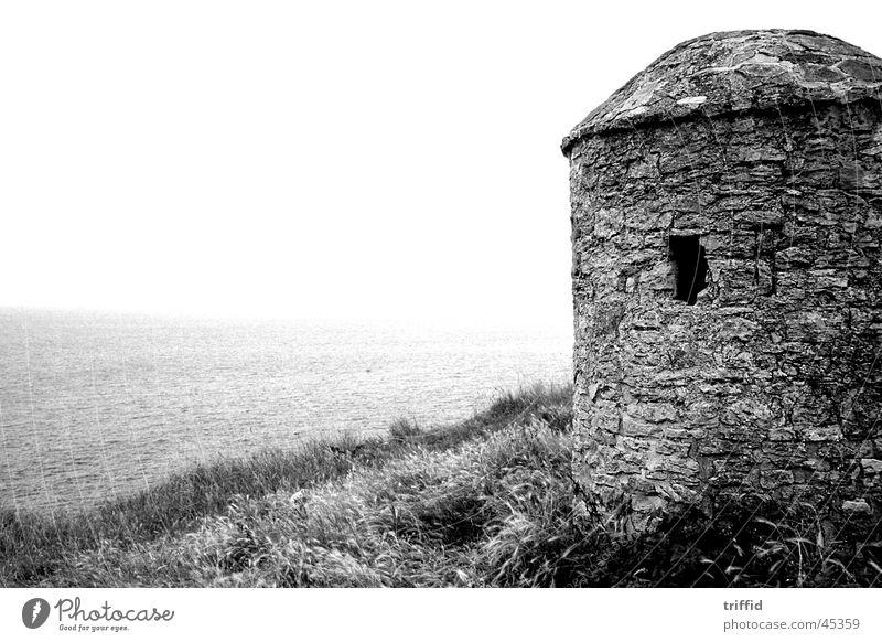 Cap Gris Nez Wachtürmchen Normandie Meer Nebel Cap Griz Nez Wachturm. Ferne