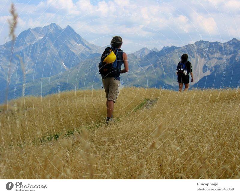 Bergsamkeit Natur schön Ferien & Urlaub & Reisen Wolken ruhig Einsamkeit Leben Sport Spielen Berge u. Gebirge Umwelt gehen Ausflug laufen wandern groß