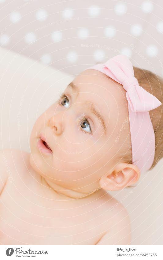 little sunshine Mädchen Schleife rosa Baby niedlich Kind Kindheit Punkt Gesicht Stirnband zart 0-12 Monate natürlich schön Perspektive Wunschtraum