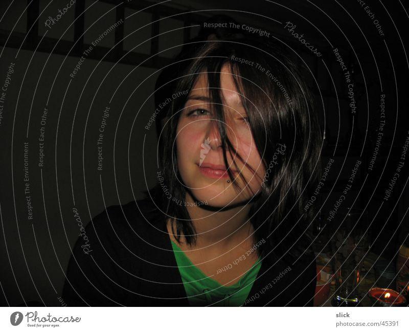 girl Frau Gesicht schwarz Haare & Frisuren