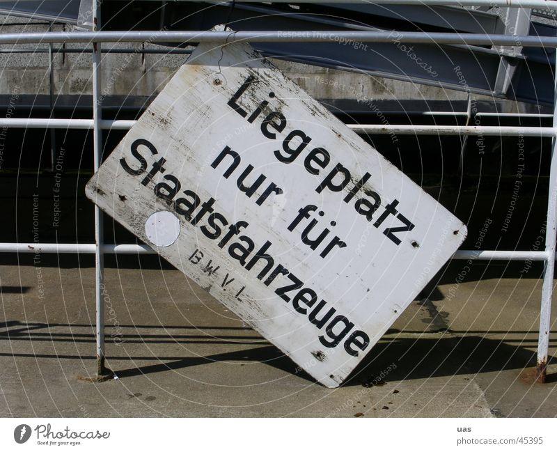 Hamburger Hafen, skurilles Schild obskur Schilder & Markierungen Fahrzeuge