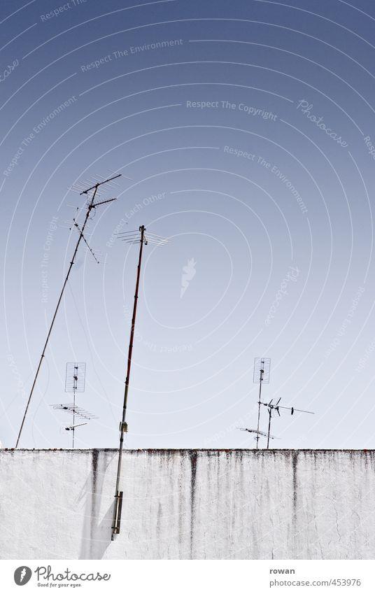 antennen Technik & Technologie Telekommunikation Informationstechnologie alt Antenne Funktechnik Radio Fernsehen Gruppe von Objekten Verbindungstechnik Dach
