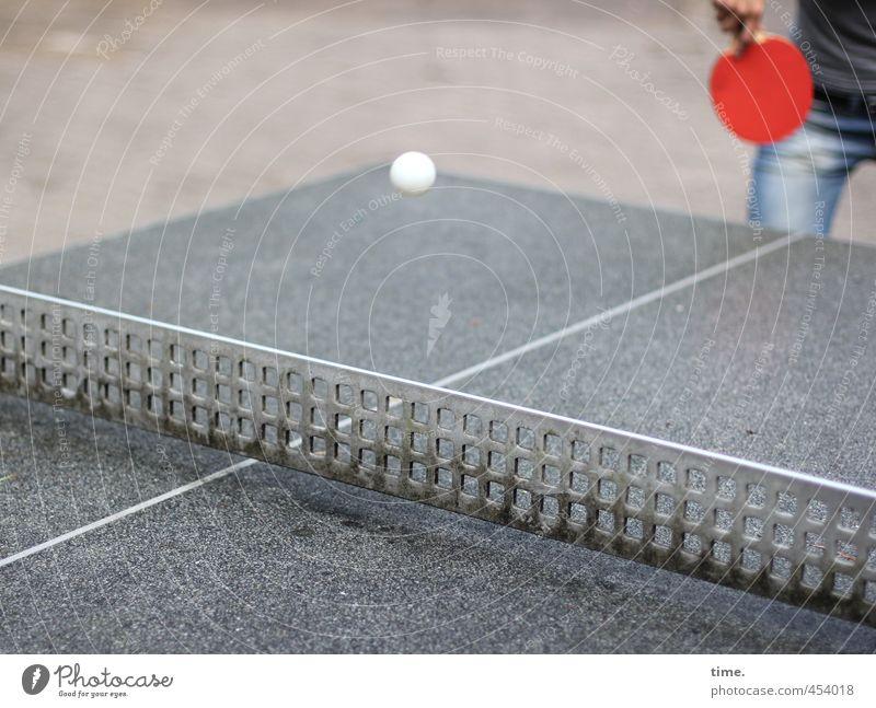 Punktsieg   3. Satz Sport Fitness Sport-Training Ballsport Tischtennis Tischtennisplatte Tischtennisball Tischtennisschläger Arme Hand Beine 1 Mensch fliegen