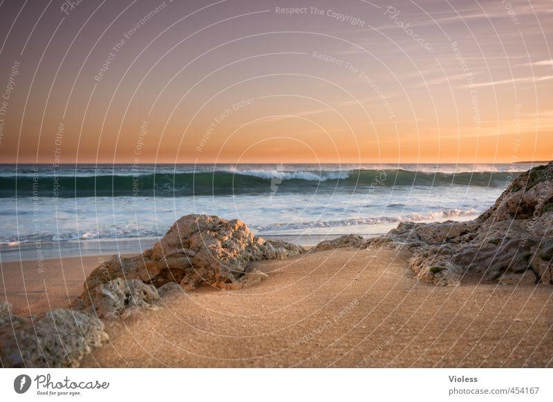 das meer ruft..... Ferien & Urlaub & Reisen Tourismus Sommer Sommerurlaub Sonne Sonnenbad Strand Meer Wellen Natur Landschaft Urelemente Erde Sonnenaufgang