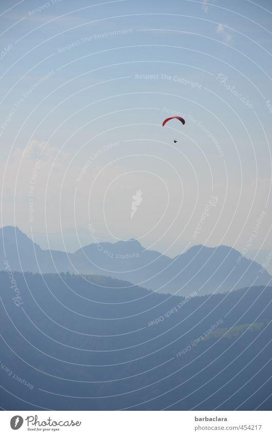 200   das verleiht Flügel Himmel Natur blau Sommer Landschaft Freude Ferne Umwelt Berge u. Gebirge Gefühle Sport träumen Luft fliegen Erde frei
