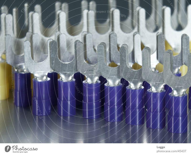 electrical blau Industrie Verbindung silber Produktion elektrisch Stecker