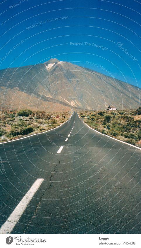 Teneriffa Straße Berge u. Gebirge Teneriffa Zufriedenheit Spanien Vulkan Kanaren Teide