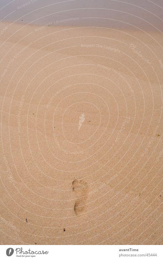 Fußspur Meer Wege & Pfade Sand schreiten