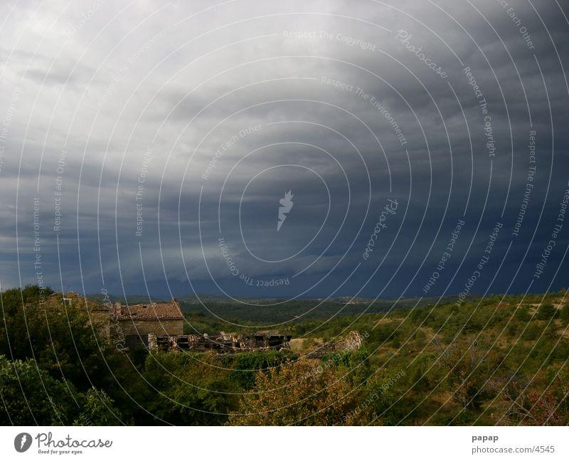 Gewitter Wolken Lichtspiel Kroatien Wolkenformation