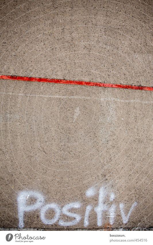 unterm strich positiv. Industrie Handel Karriere Erfolg Industrieanlage Fabrik Ruine Bauwerk Gebäude Mauer Wand Fassade Beton Metall Schriftzeichen Linie
