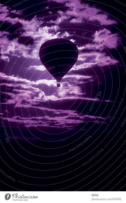 ballonhimmel Himmel Wolken Luftverkehr violett Ballone